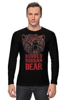 """Лонгслив """"Animal Art"""" - животные, bear, медведь, animal, арт дизайн"""