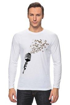 "Лонгслив ""Retro Music"" - музыка, ретро, микрофон"