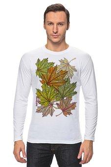 """Лонгслив """"Кленовый узор"""" - листья, осень, деревья, природа, мехенди"""