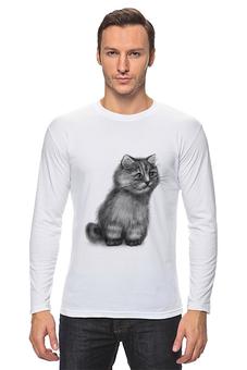 """Лонгслив """"Кот из фильма """"Пыль"""""""" - кот, котэ, концептуально, пыль, футболки из фильмов"""