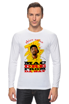 "Лонгслив ""Mac Dre From Da Bay Thizz Nation"" - rap, рэп, футболка мужская, хип хоп, hip hop, mac dre, rap футболка, рэппер, мак дрей, мак дрэй"