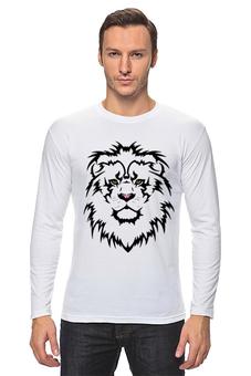 """Лонгслив """"Лев. Lion"""" - лев, рисунок, взгляд, графика, царь зверей"""