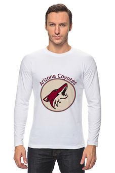 "Лонгслив ""Arizona Coyotes"" - хоккей, hockey, nhl, нхл, аризона койотс"