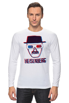 "Лонгслив ""Heisenberg 3d"" - breaking bad, heisenberg, во все тяжкие, 3d"