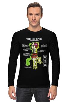 """Лонгслив """"Крипер. Майнкрафт"""" - minecraft, майнкрафт, creeper, крипер, геймерские"""
