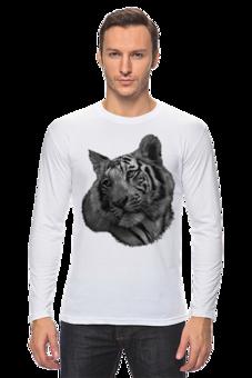"""Лонгслив """"Белый тигр"""" - футболка, животные, фото, природа, тигр"""