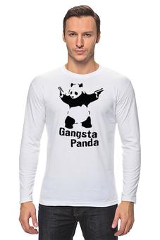 "Лонгслив ""Супер Панда"" - арт, панда, футболка мужская, гангста"