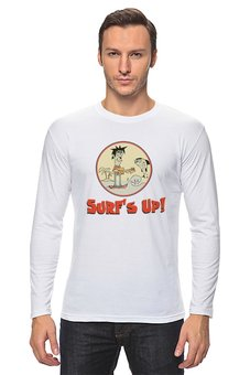 "Лонгслив ""Surf's Up!"" - музыка, лето, море, surf, rock'n'roll"