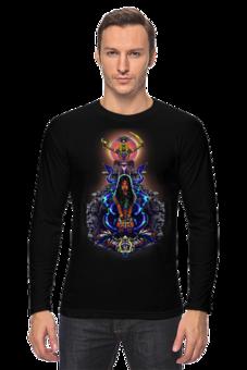 "Лонгслив ""Легенды майя"" - оригинально, креативно, парню"