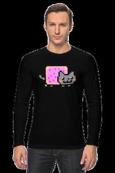 """Лонгслив """"Nyan cat"""" - животные, cat, nyan"""