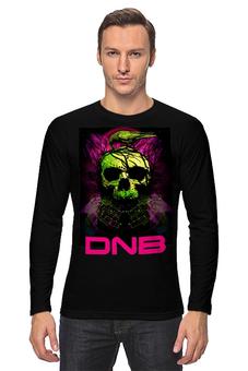 """Лонгслив """"Drum and Bass"""" - skull, череп, dj, music, drum and bass"""