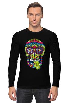 "Лонгслив ""Череп ""Рок-н-Ролл"""" - skull, череп, mexican skull"