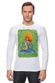 """Лонгслив """"Медитация на Ом (Аум)"""" - йога, рисунок, ом, медитация, индуизм"""