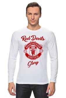 """Лонгслив """"Манчестер Юнайтед"""" - манчестер юнайтед, manchester united, футбольный клуб, красные дьяволы, мю"""