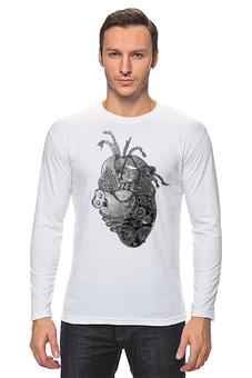 """Лонгслив """"Стимпанк сердце"""" - сердце, любовь, анатомия, стимпанк, механизм"""