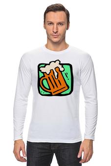 """Лонгслив """"алкоголь"""" - алкоголь, пиво, бар"""