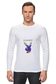 """Лонгслив """"Playboy Россия"""" - playboy, россия, плейбой, зайчик, плэйбой"""
