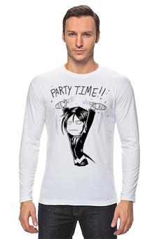 "Лонгслив ""Kuroshitsuji Party Time"" - party, time, аниме, sebastian, kuroshitsuji"