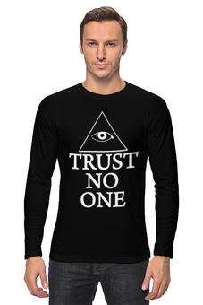"""Лонгслив """"Не доверяй никому"""" - мульт, цитата, гравити фолз"""
