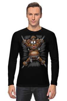 "Лонгслив ""Bear Bondage"" - bear, медведь, мишка, раб, bondage"