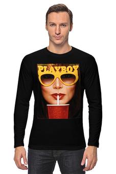 """Лонгслив """"Playboy Очки"""" - playboy, плейбой, плэйбой"""