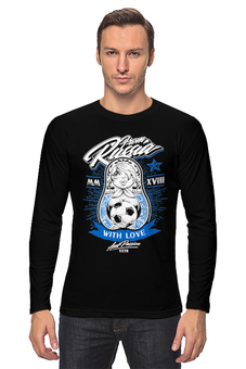 "Лонгслив ""Футбол"" - футбол, спорт, матрёшка"