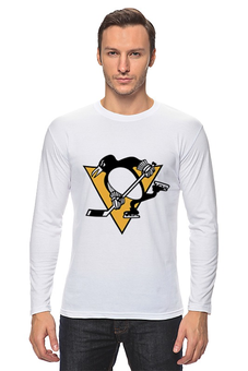 "Лонгслив ""Pittsburgh Penguins"" - хоккей, hockey, nhl, нхл, pittsburgh penguins, питсбург пингвинз, евгений малкин, penguins"