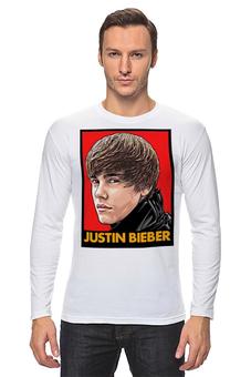 """Лонгслив """"Justin Bieber"""" - музыка, justin bieber, поп музыка, pop music, джастин бибер"""
