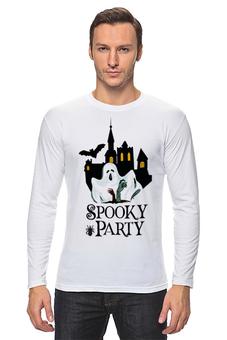 "Лонгслив ""Хэллоуин"" - хэллоуин, привидение"