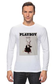 """Лонгслив """"Playboy Альтернативный кролик"""" - playboy, плейбой, кролик, плэйбой"""