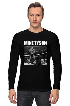 "Лонгслив ""MIKE TYSON"" - бокс, боксёр, майк тайсон, mike tyson, железный майк, boxer"
