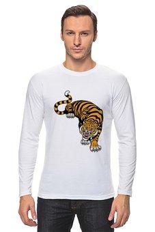 "Лонгслив ""Свирепый тигр"" - тигр, животное"