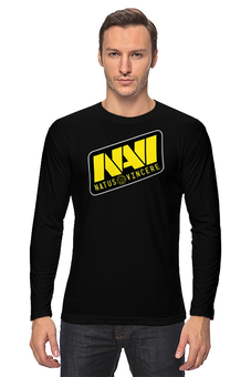"Лонгслив ""Natus Vincere Logo (Black)"" - игры, dota, dota 2, navi, natus vincere, дота, edward, киберспорт, dendi, markeloff"