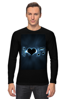 "Лонгслив ""я люблю музыку"""