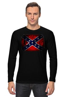 """Лонгслив """"Флаг Конфедерации США"""" - война, америка, история, конфедерация, флаг конфедерации"""