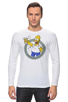 """Лонгслив """"No Problems (Simpson)"""" - юмор, пиво, симпсоны, реклама, бухло"""