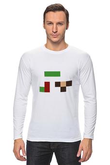 "Лонгслив ""Гена и чебурашка"" - pixel, гена, чебурашка, wax, пиксел арт"