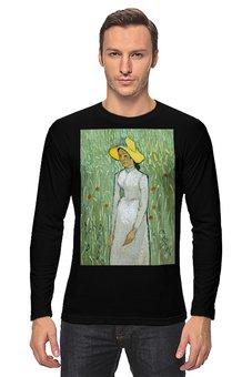 """Лонгслив """"Девушка в белом (Винсент Ван Гог)"""" - картина, природа, ван гог, живопись, постимпрессионизм"""