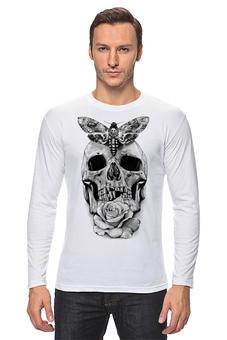 """Лонгслив """"Skull - 10"""" - skull, череп, дизайн, день рождения, rock and roll"""