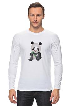 """Лонгслив """"""""Добрая Панда"""""""" - новый год, животные, панда, семья, пара"""