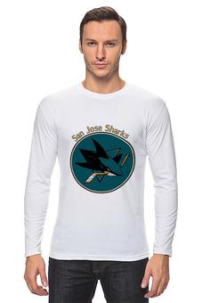 """Лонгслив """"San Jose Sharks"""" - хоккей, hockey, nhl, нхл, сан хосе шаркс"""