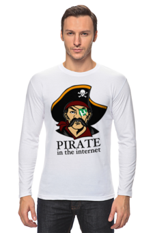 "Лонгслив ""Интернет Пират"" - internet, pirate, cyberpiracy"