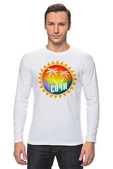 """Лонгслив """"Отпуск"""" - лето, summer, море, пляж, сочи"""