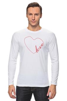 """Лонгслив """"Сердце (love)"""" - сердце, любовь, люблю, любить"""