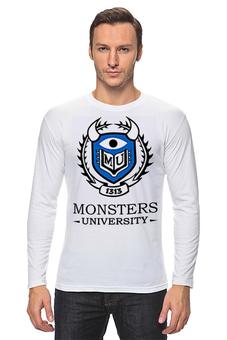 """Лонгслив """"Monsters University"""" - мультфильм, кино, cinema, университет монстров, monsters university"""