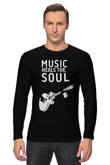 "Лонгслив ""Music heals the soul"" - музыка, dj, club"
