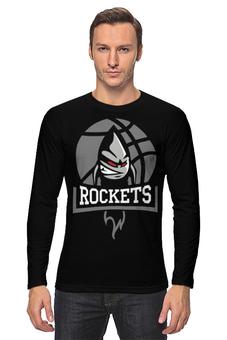 """Лонгслив """"BMSTU Rockets black edition """" - мгту, бауманские ракеты"""