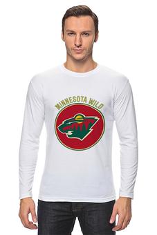"""Лонгслив """"Миннесота Уайлд """" - хоккей, nhl, нхл, minnesota wild, миннесота уайлд"""