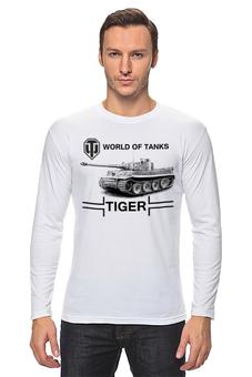 """Лонгслив """"WOT TIGER"""" - tiger, тигр, world of tanks, танки, wot"""