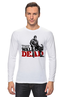 "Лонгслив ""The Walking Dead"" - зомби, ходячие мертвецы, the walking dead, daryl, дэрил диксон"